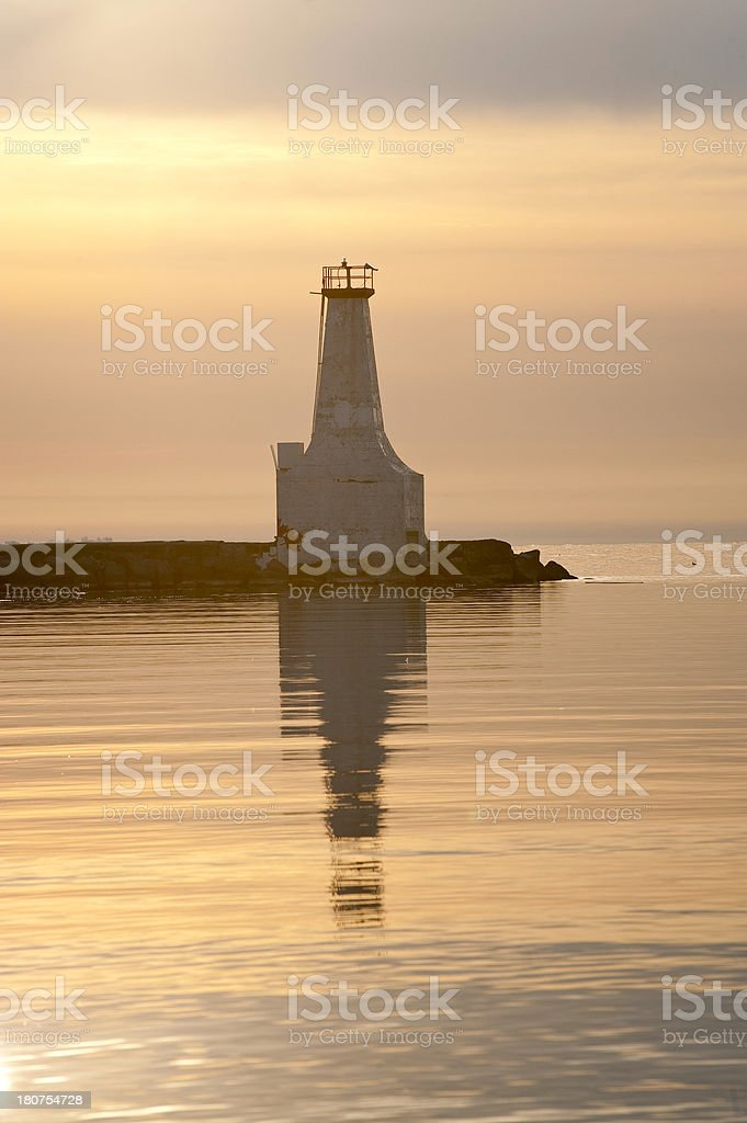 Lighthouse at Dawn royalty-free stock photo
