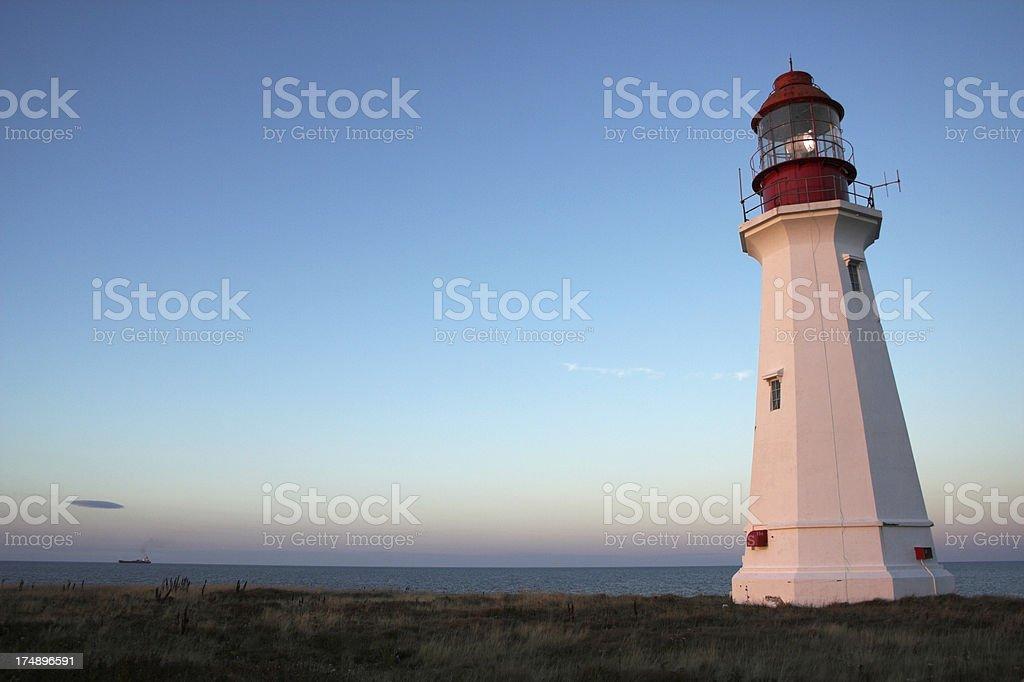 Lighthouse at Dusk 01 royalty-free stock photo