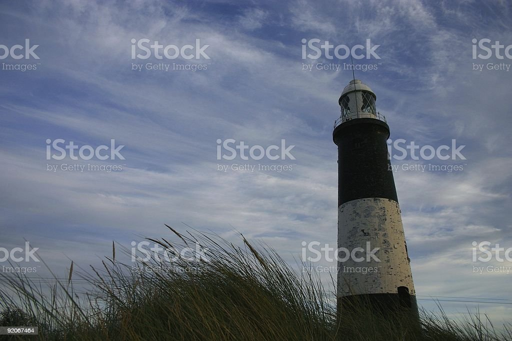 Lighthouse at dusk royalty-free stock photo
