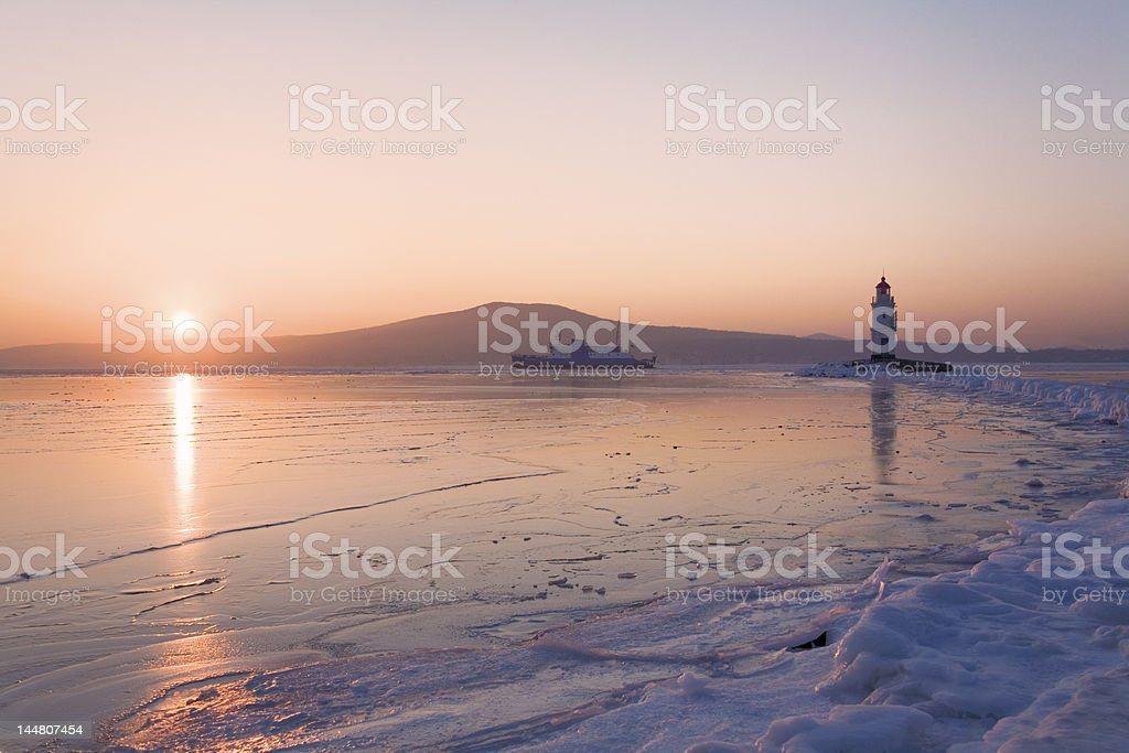 lighthouse at East Bosfor strait royalty-free stock photo