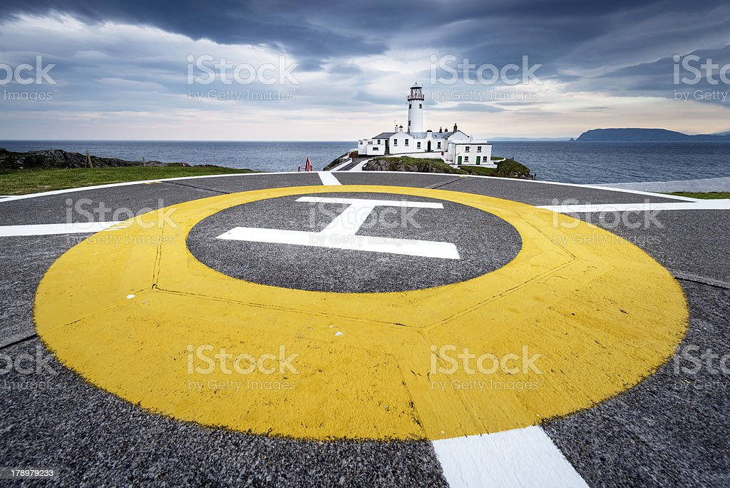 Lighthouse at Fanad Head, North Coast of Donegal, Ireland royalty-free stock photo
