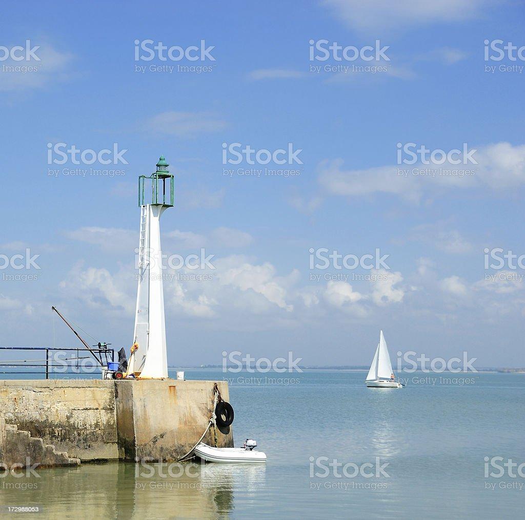 Lighthouse at Fouras, near La Rochelle stock photo