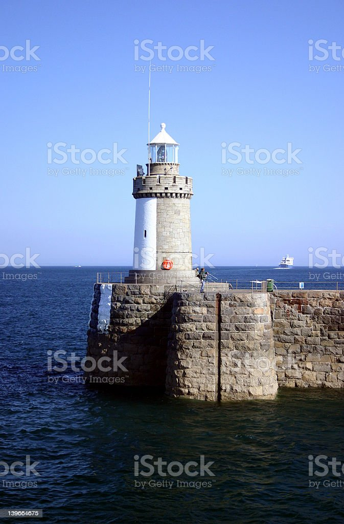 Lighthouse at Guernsey royalty-free stock photo