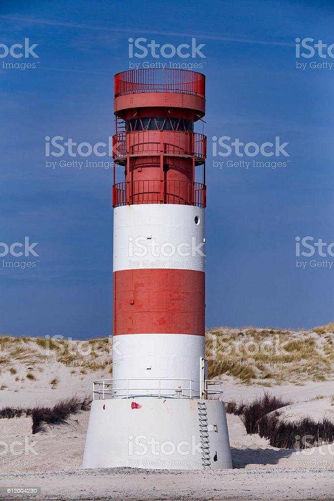 lighthouse at heligoland dune island stock photo