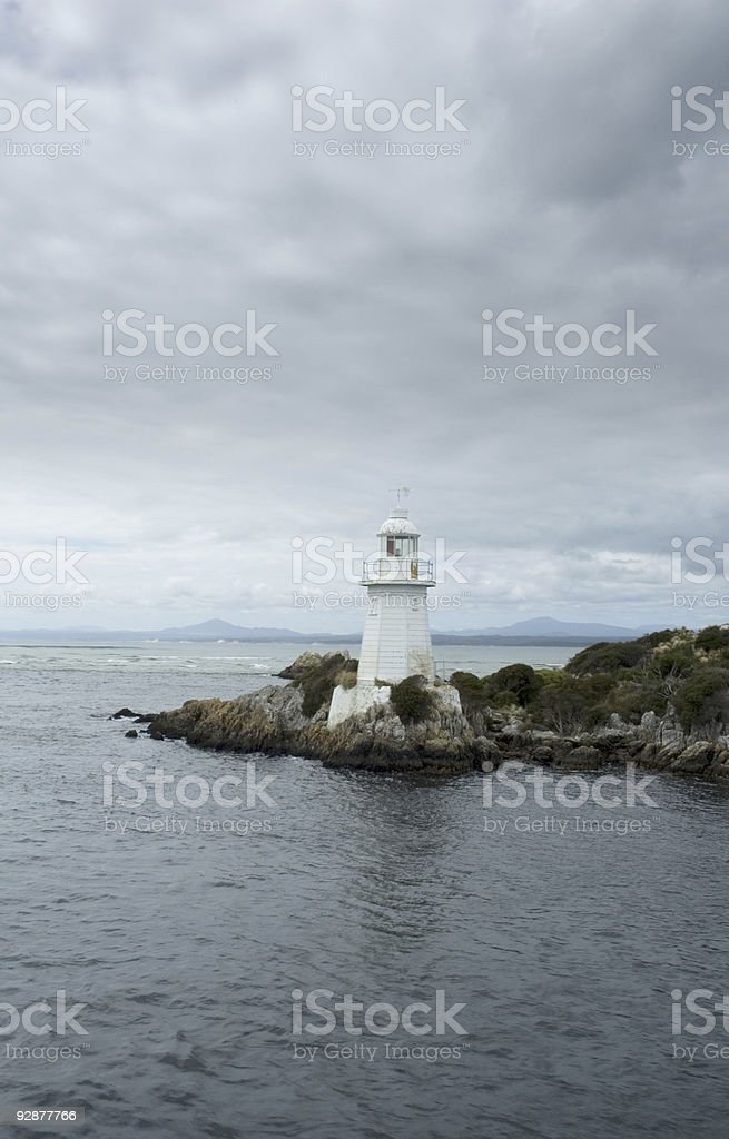 Lighthouse at Hells Gate stock photo