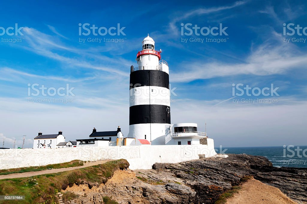 Lighthouse at Hook Head, County Wexford, Ireland stock photo