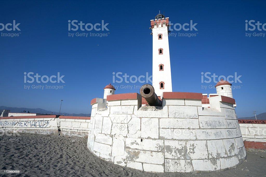 Lighthouse at La Serena stock photo