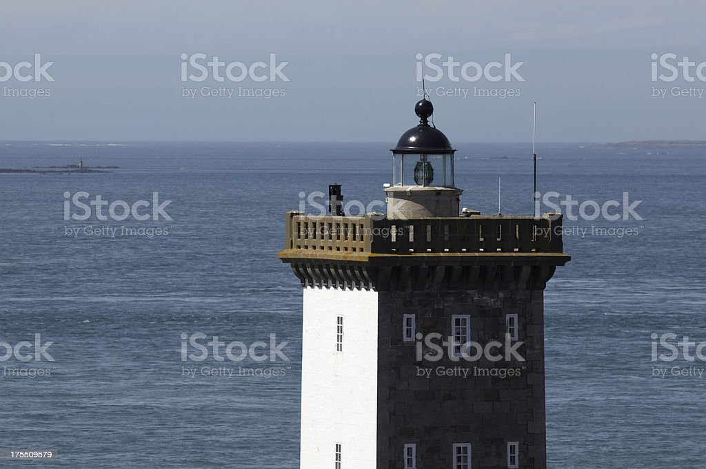 Lighthouse at Le Conquet, Finistere, Brittany, France royalty-free stock photo