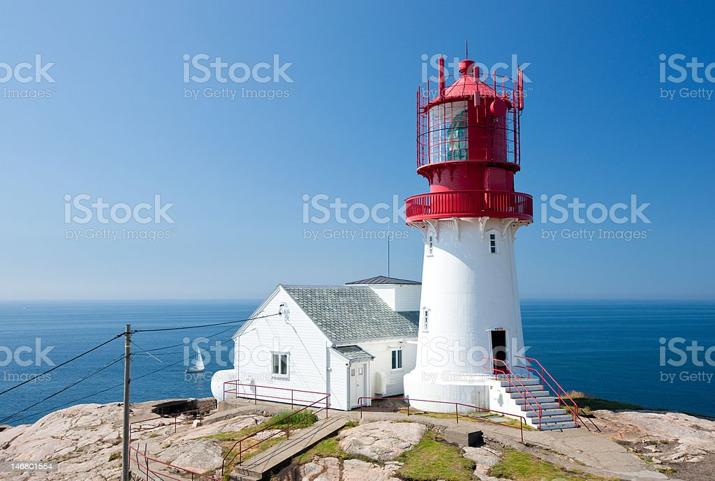Lighthouse at Lindesnes royalty-free stock photo