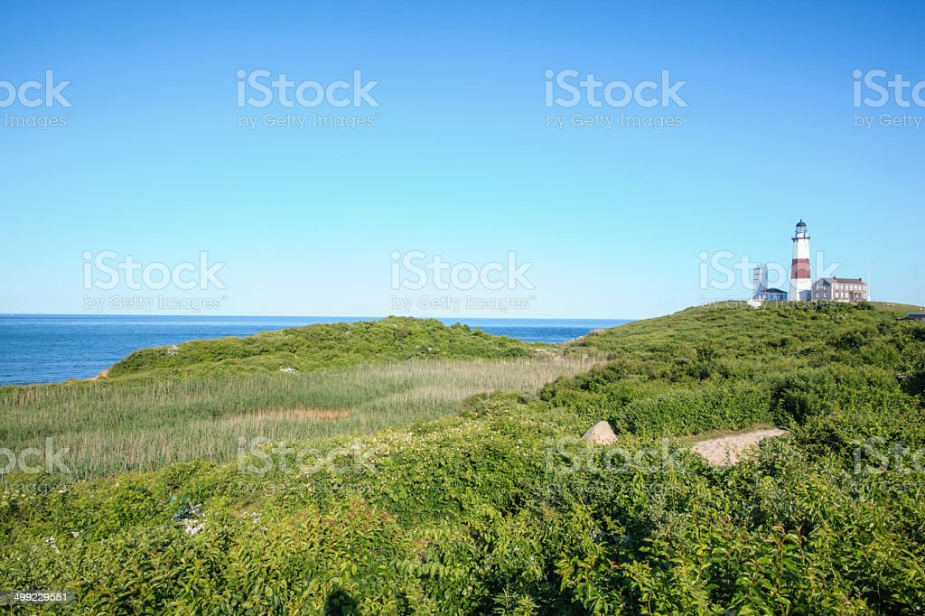Lighthouse at Montauk point, Long Islans royalty-free stock photo
