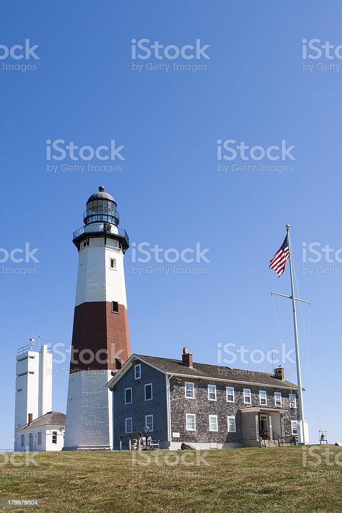 Lighthouse at Montauk Point. royalty-free stock photo