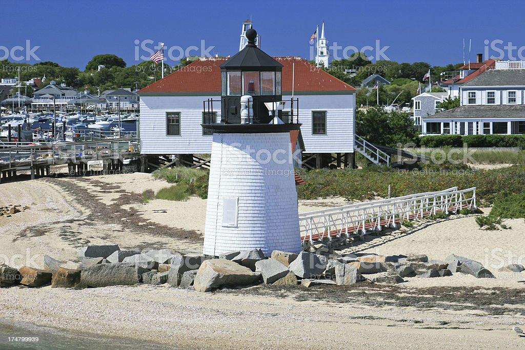 Lighthouse at Nantucket, Massachusetts. royalty-free stock photo