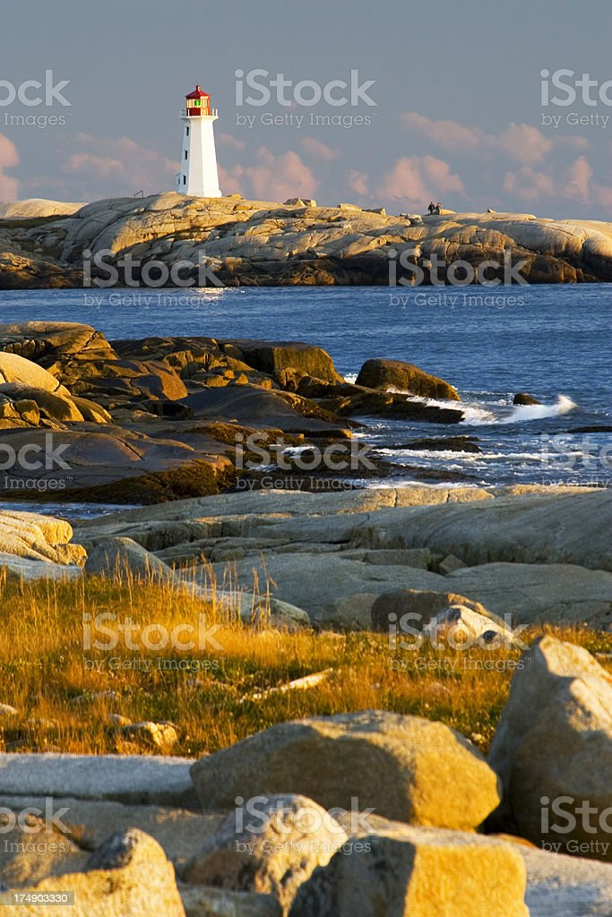 Lighthouse at Peggy's Cove 2 royalty-free stock photo