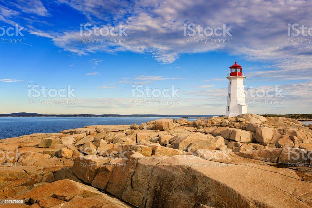 Lighthouse at Peggy's Cove, Nova Scotia, Canada stock photo