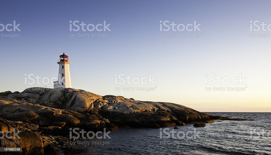 Lighthouse at Peggy's Cove Nova Scotia royalty-free stock photo