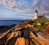 A lighthouse at Permaquid Point