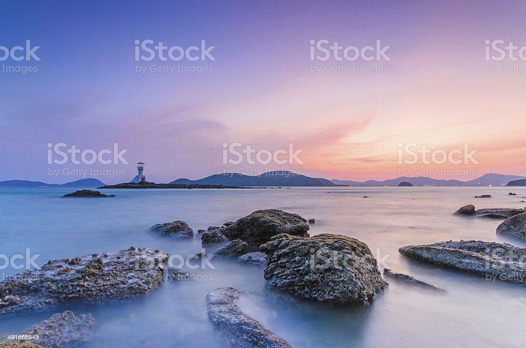 Lighthouse at Phuket stock photo