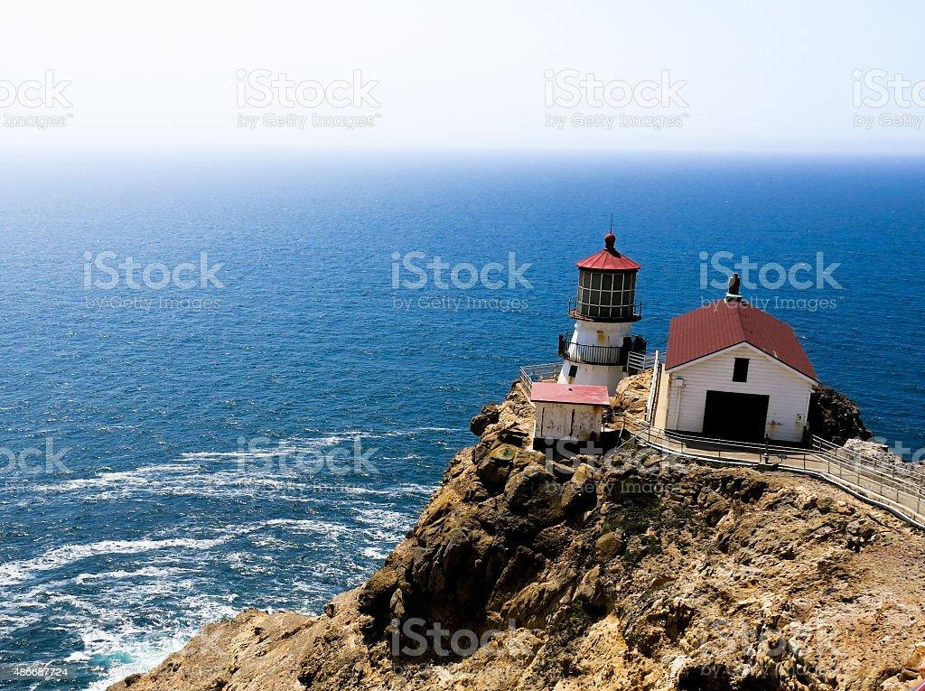 Lighthouse at Point Reyes National Seashore stock photo