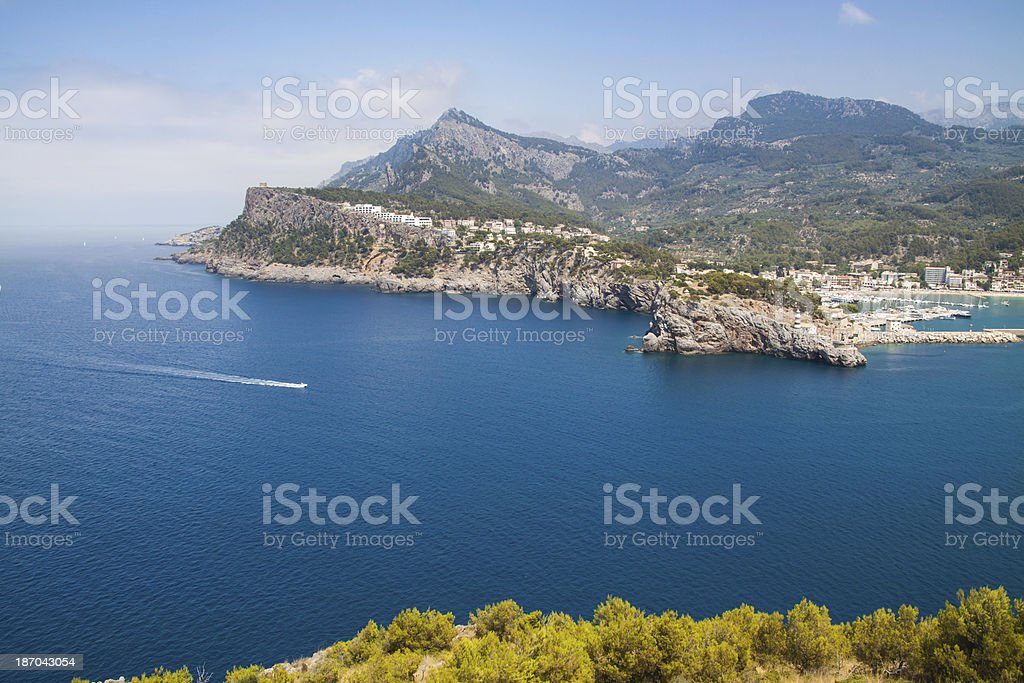 Lighthouse at Port Soller (Palma de Majorca) Espana stock photo