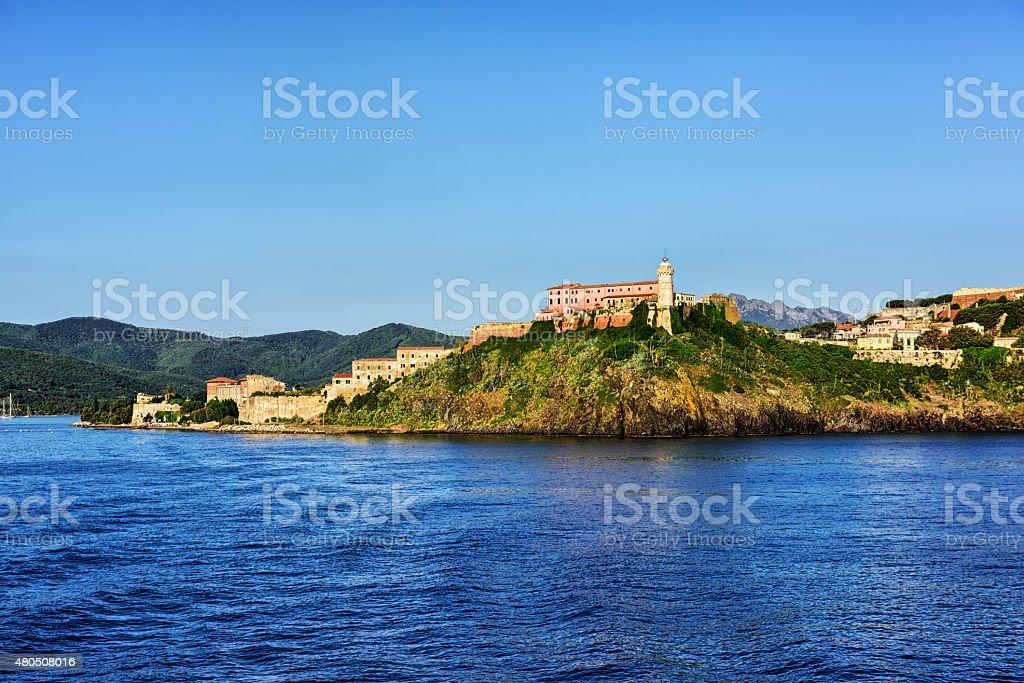 Lighthouse at Portoferraio on the  Island of Elba, Italy stock photo