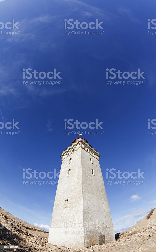 Lighthouse at Rubjeg Knude stock photo