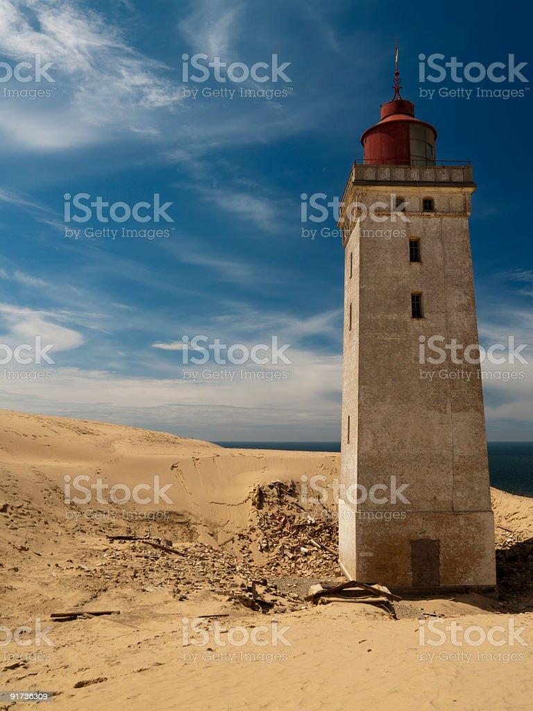 Lighthouse at Rubjerg Knude, Denmark stock photo