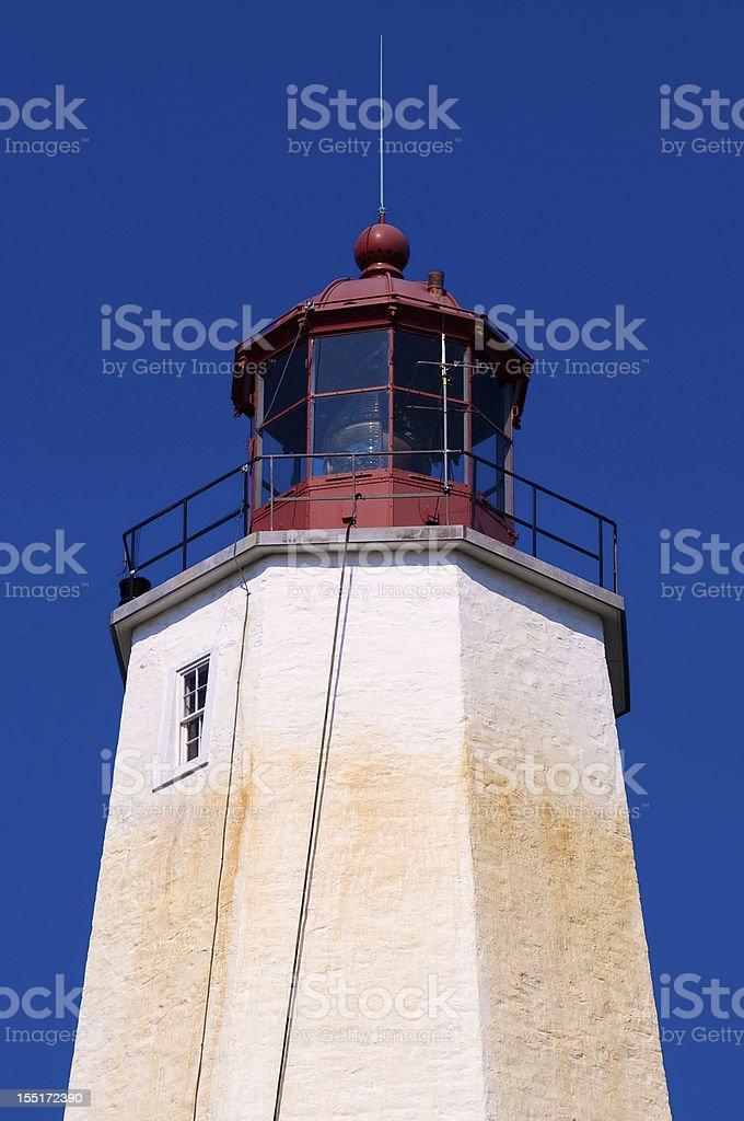 Lighthouse at Sandy Hook NJ stock photo