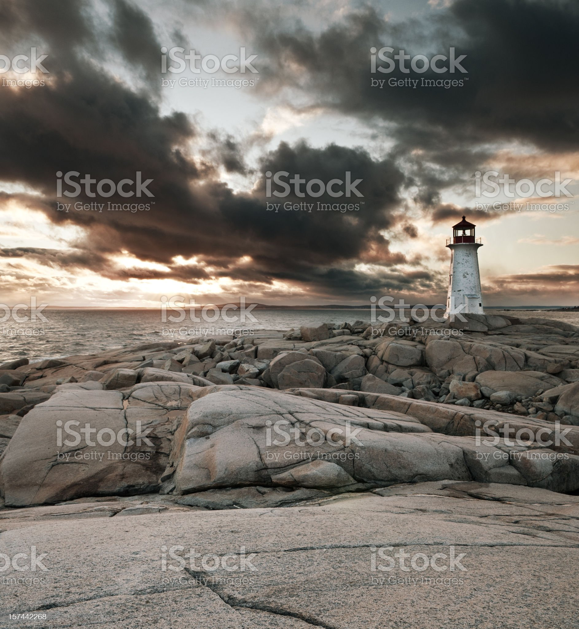 Lighthouse at Sunset royalty-free stock photo