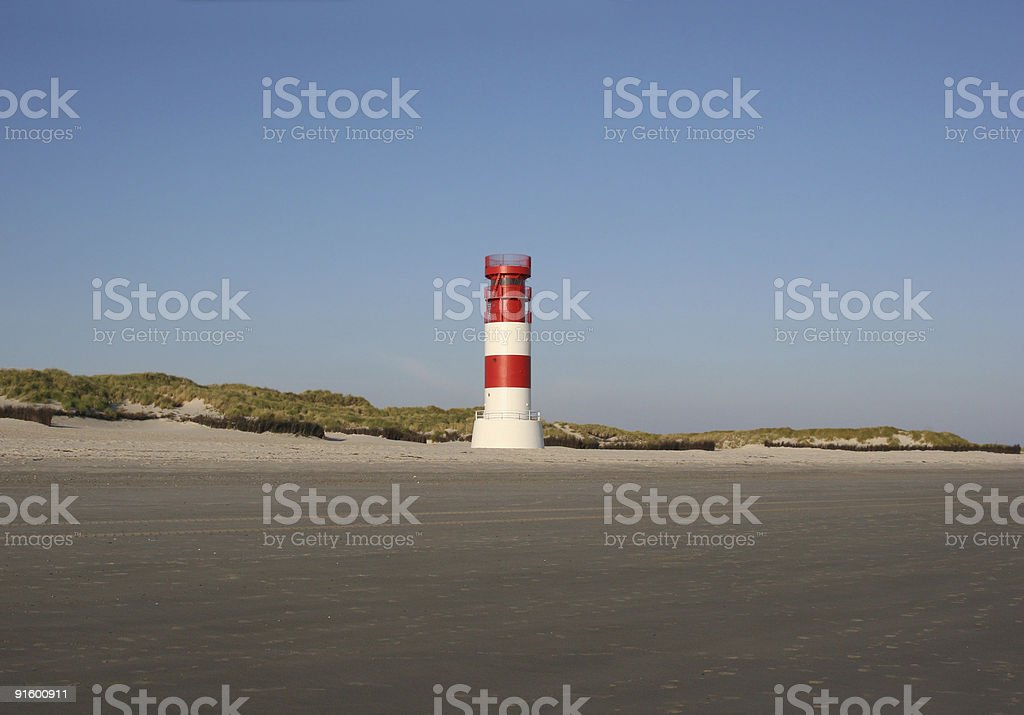 Leuchtturm am D?ne-S?dstrand (Helgoland) royalty-free stock photo