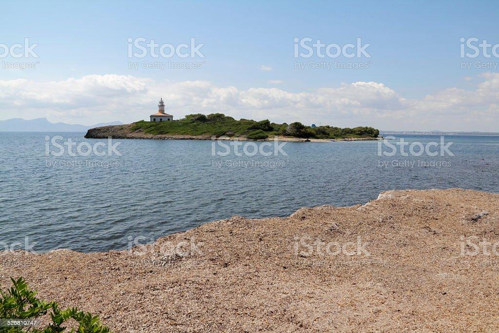 lighthouse beach stock photo