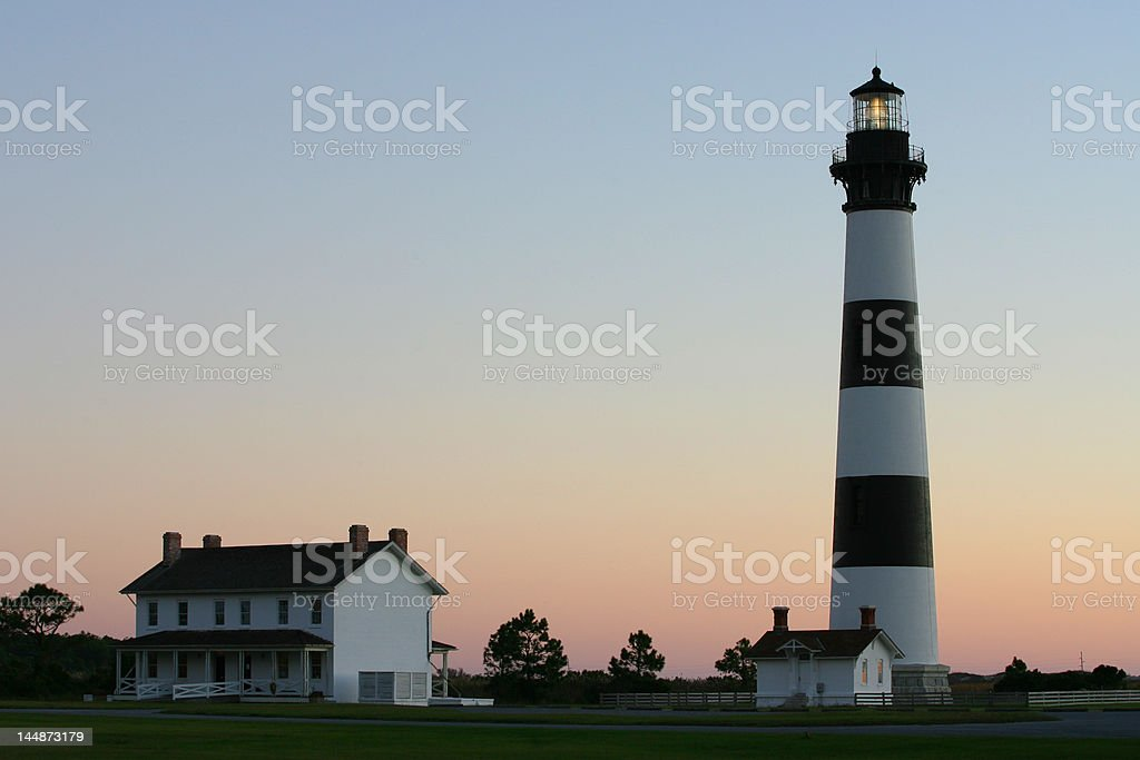 Lighthouse before Dawn royalty-free stock photo