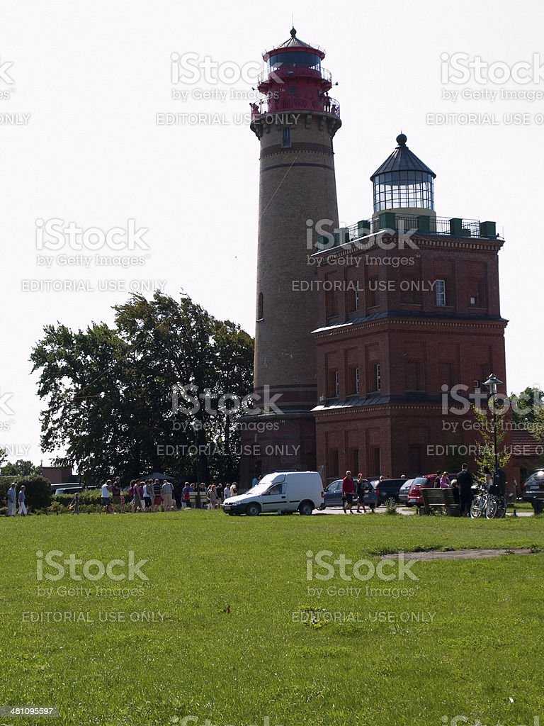 Lighthouse Cape Arkona stock photo