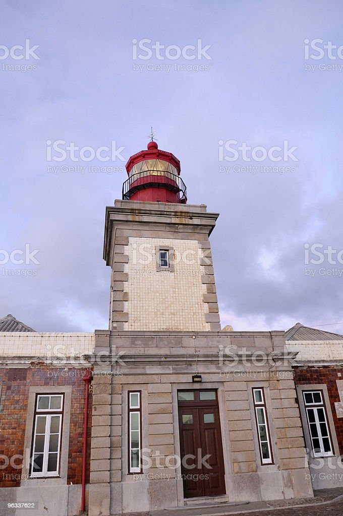 lighthouse cape of roca, Portugal stock photo