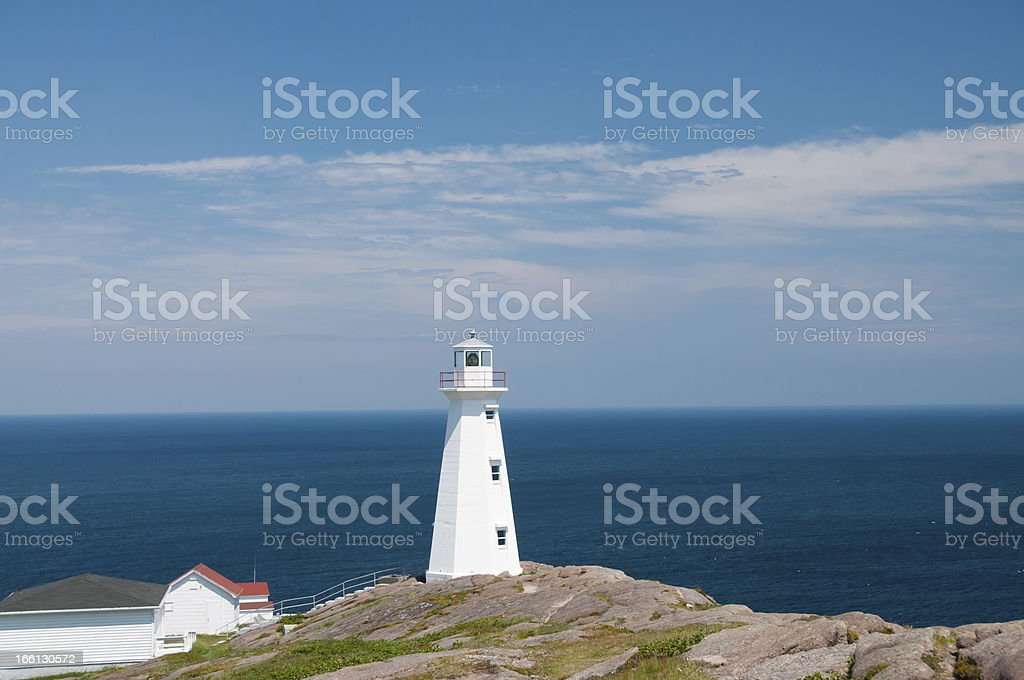 Lighthouse Cape Spear royalty-free stock photo