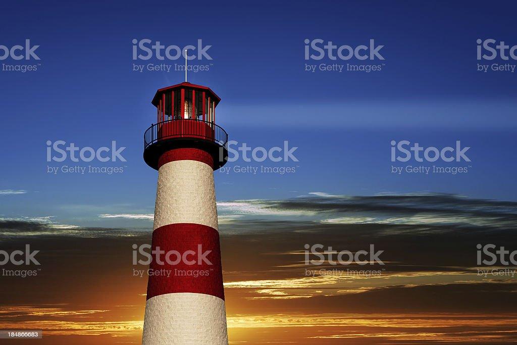 XXL lighthouse close-up royalty-free stock photo