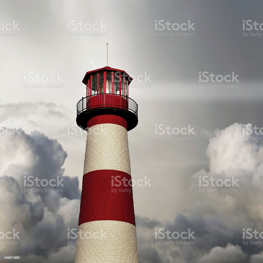XL lighthouse close-up stock photo