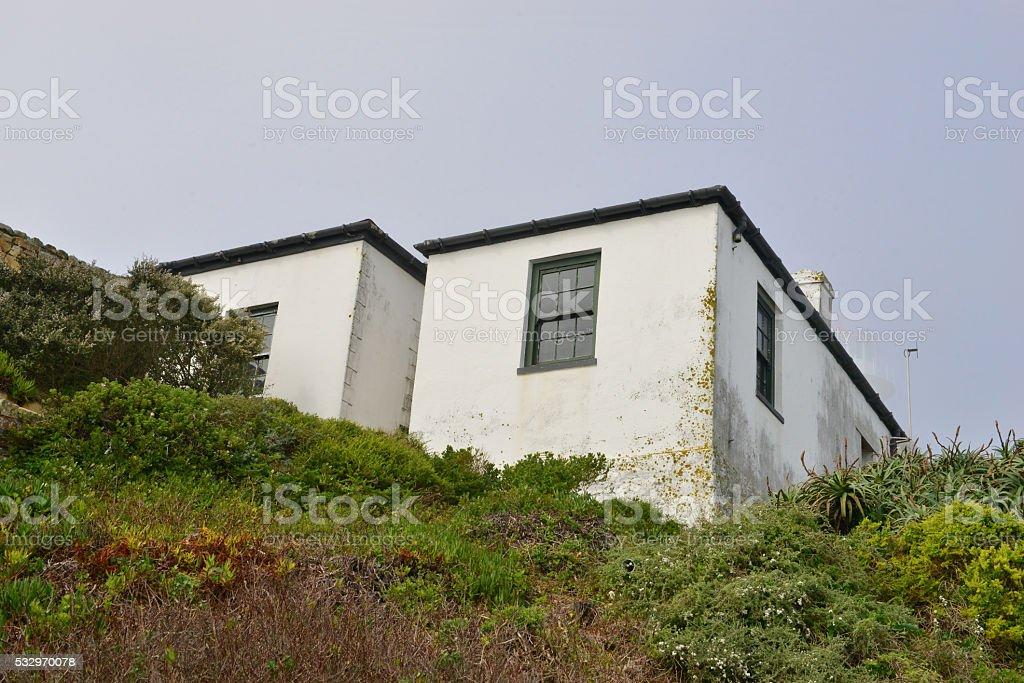 LIghthouse Cottage stock photo