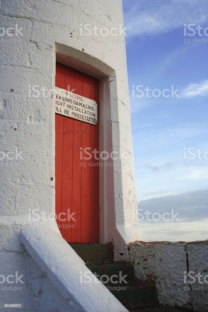 Lighthouse door royalty-free stock photo