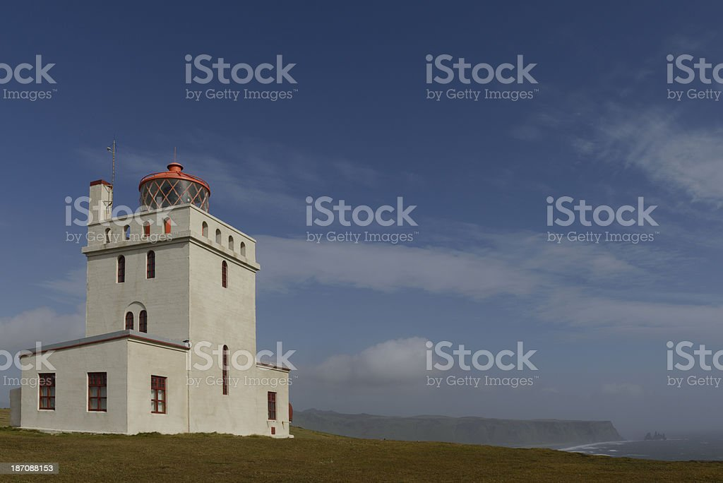 Lighthouse Dyrholaey royalty-free stock photo