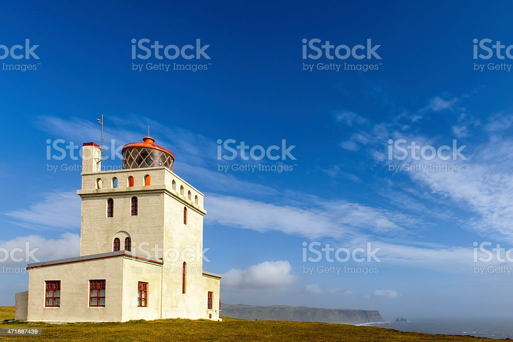 Lighthouse Dyrholaey stock photo