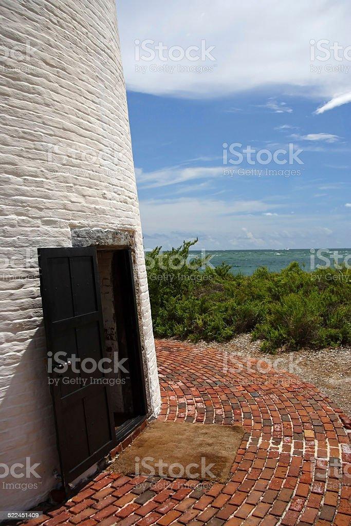 Lighthouse Entrance stock photo