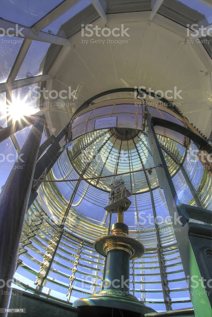 Lighthouse First Order Fresnel Lens 3 royalty-free stock photo