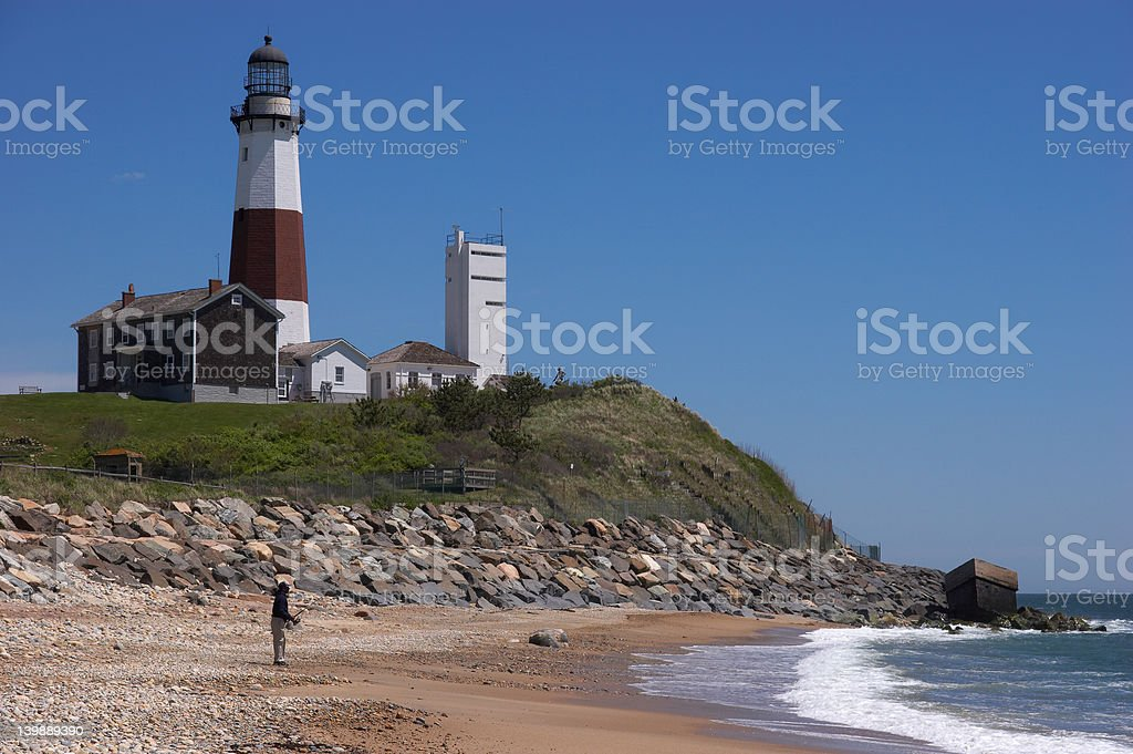 Lighthouse Fisherman royalty-free stock photo