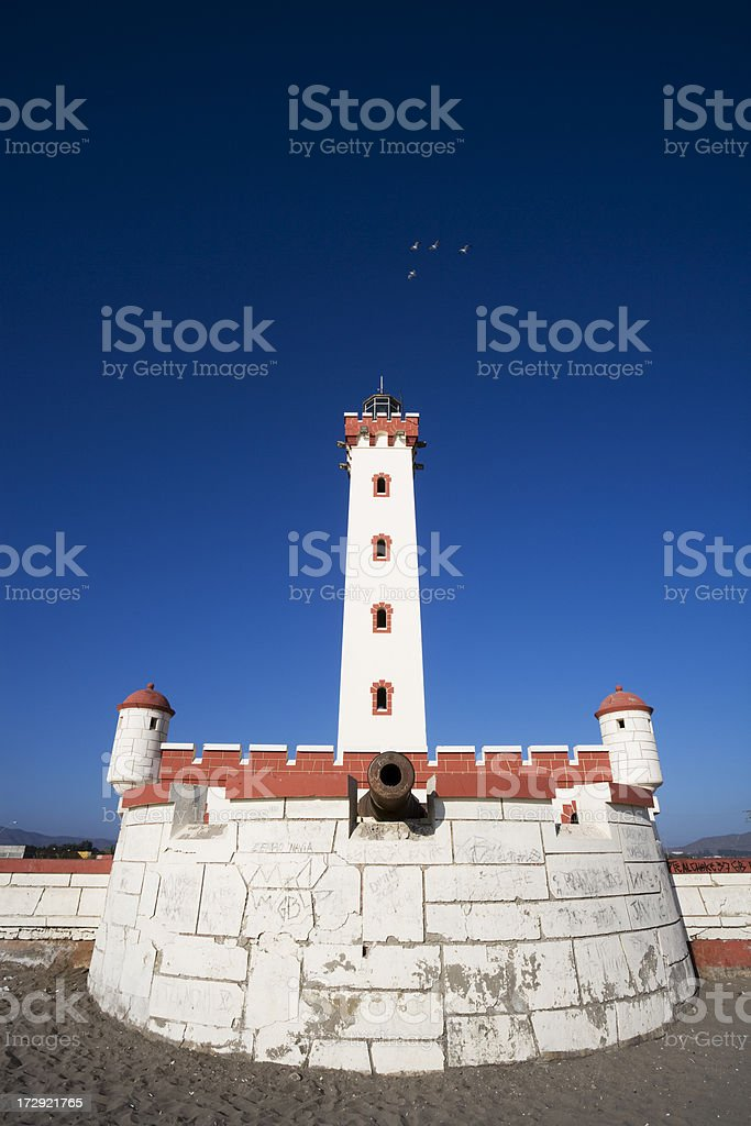Lighthouse Fort in Chile stock photo