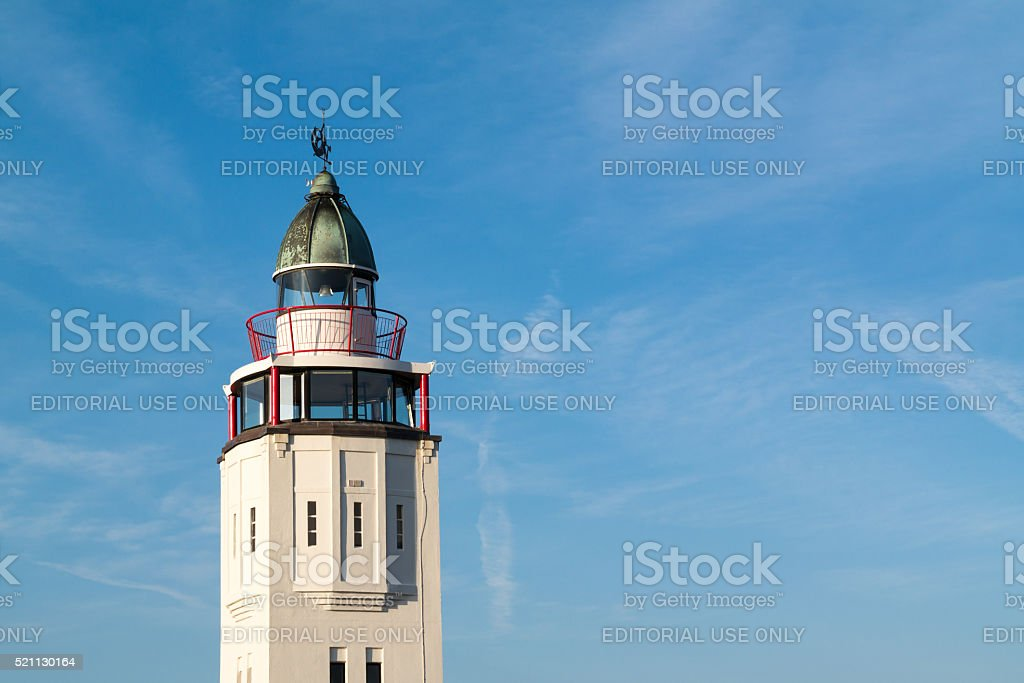 Lighthouse hotel in old town of Harlingen, Netherlands stock photo