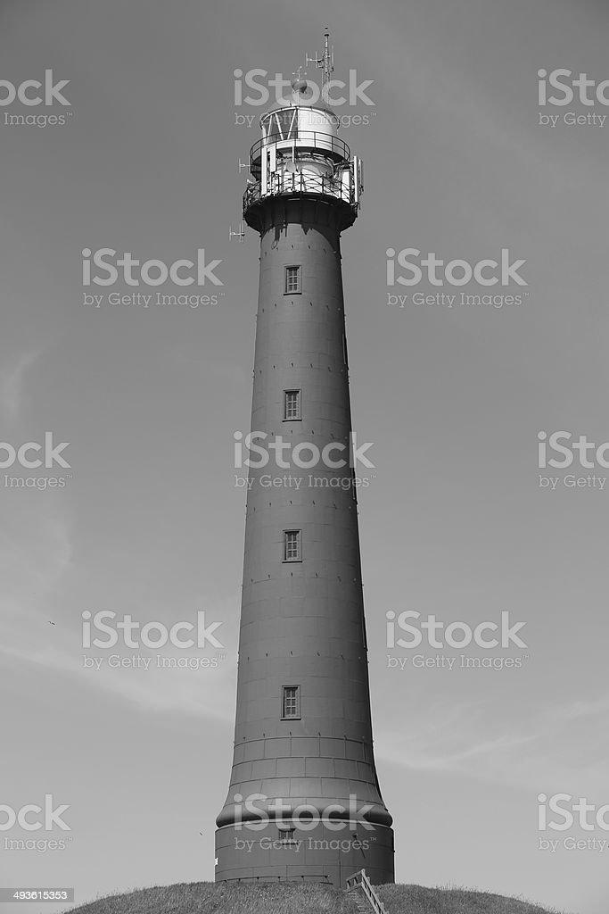 Lighthouse IJmuiden Black and White stock photo