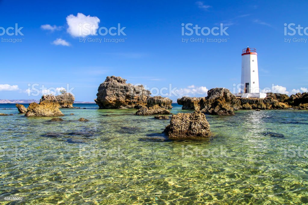 Lighthouse in Antisiranana stock photo