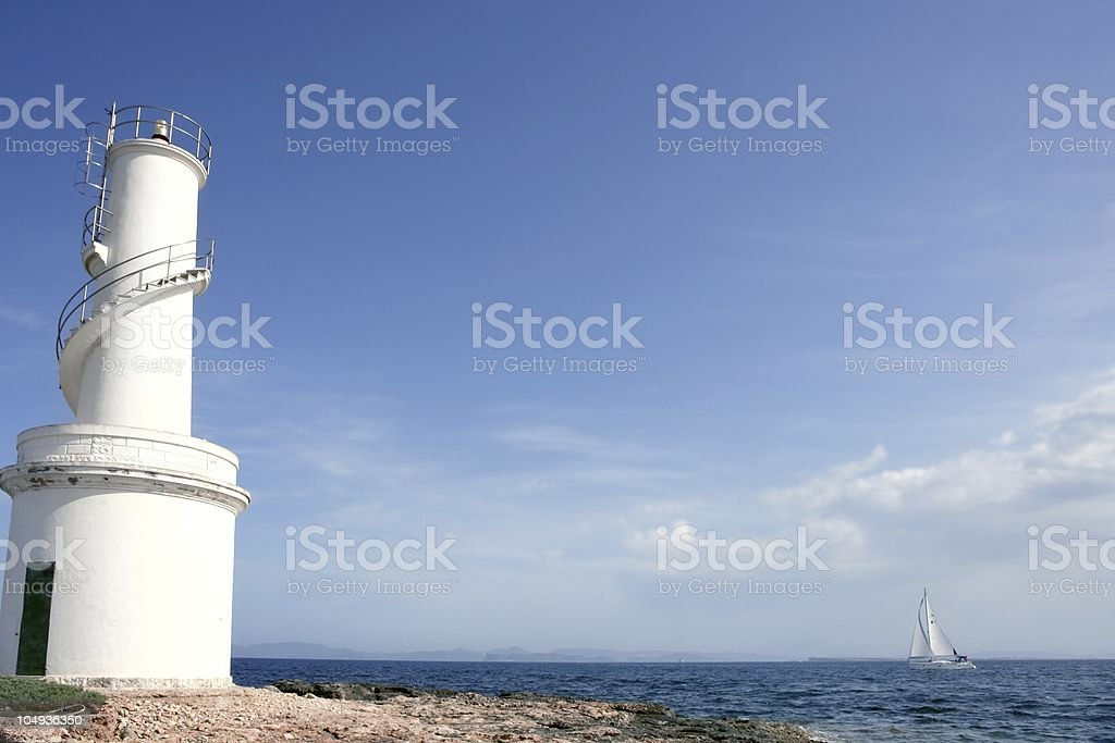 Lighthouse in balearic Islands Formentera royalty-free stock photo