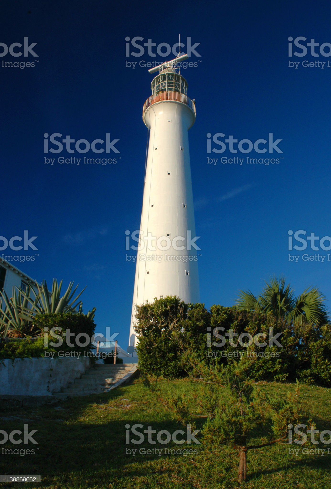 Lighthouse in Bermuda royalty-free stock photo