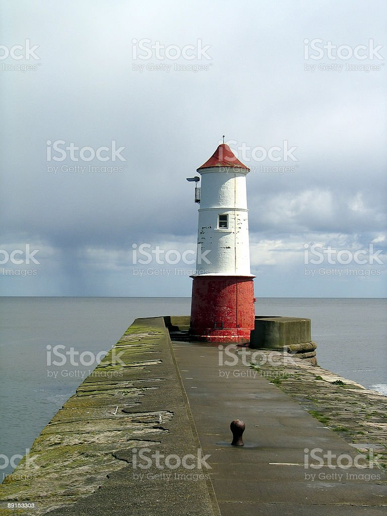 Lighthouse in Berwick upon Tweed royalty-free stock photo